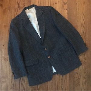 Donegal Teeed men's blazer jacket 40 38 gray blue